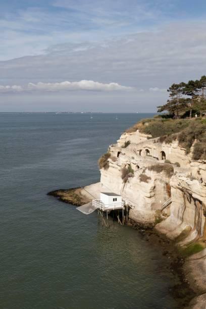 Grottes de Régulus surplombant l'estuaire de la Gironde