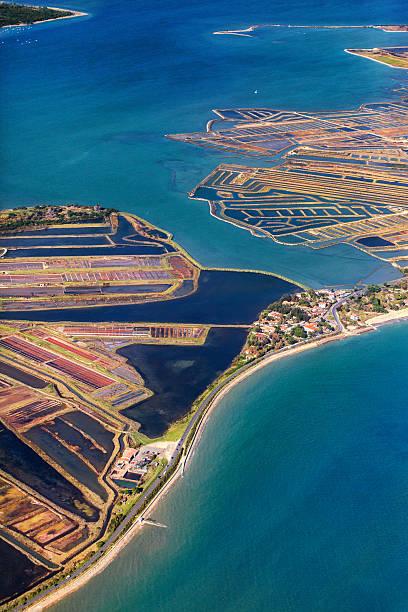 Marais salants et océan à l'Île de Ré