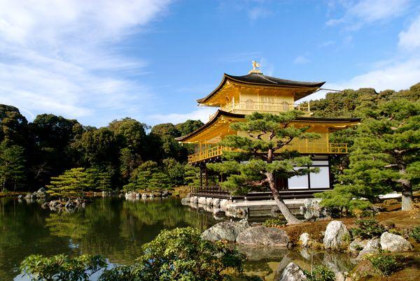 photo du temple jaune